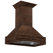 ZLINE 36 in. Wooden Wall Mount Range Hood in Walnut - Includes Remote Motor