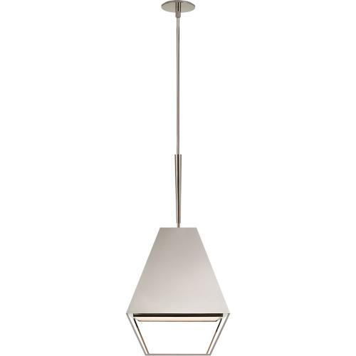 Visual Comfort BBL5102PN-FA Barbara Barry Odeum 2 Light 17 inch Polished Nickel Hanging Lantern Ceiling Light, Medium