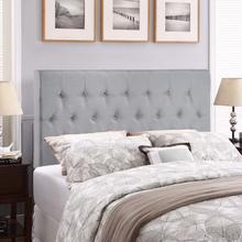 Clique Queen Upholstered Fabric Headboard in Sky Gray