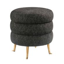 View Product - Ladder Black Tweed Ottoman