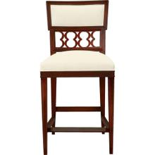 Ilsa Counter Stool with Figure-Eight Panel