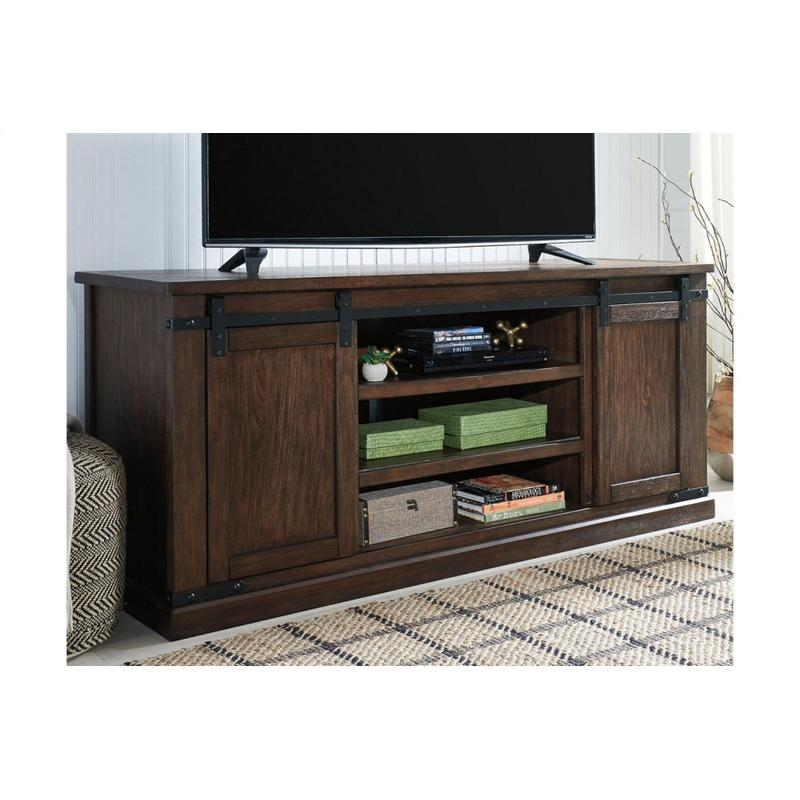 View Product - Budmore Rustic Brown Extra Large TV Stand