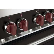 Set of 8 Knobs for Designer Gas Single Oven Range - Burgundy
