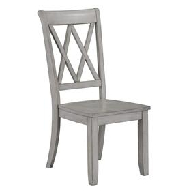 Vintage 2-Pack X-Back Side Chair, Grey
