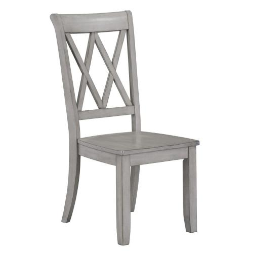 Vintage 2-Pack X-Back Side Chair, Grey