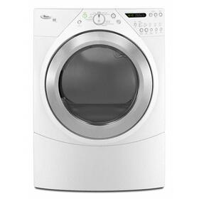 Silver Metallic-on-White Whirlpool® Duet® Steam 7.2 cu. ft. Dryer