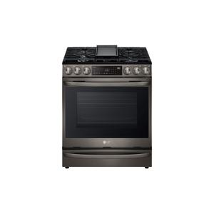 6.3 cu ft. Smart Wi-Fi Enabled ProBake Convection® InstaView™ Gas Slide-in Range with Air Fry Product Image