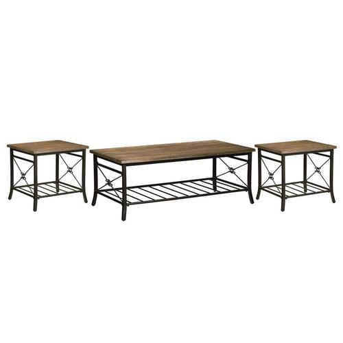 Ainsley Light Occasional Table 3-Pack, Brown