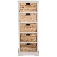 See Details - Vedette 5 Wicker Basket Storage Tower - Vintage Grey