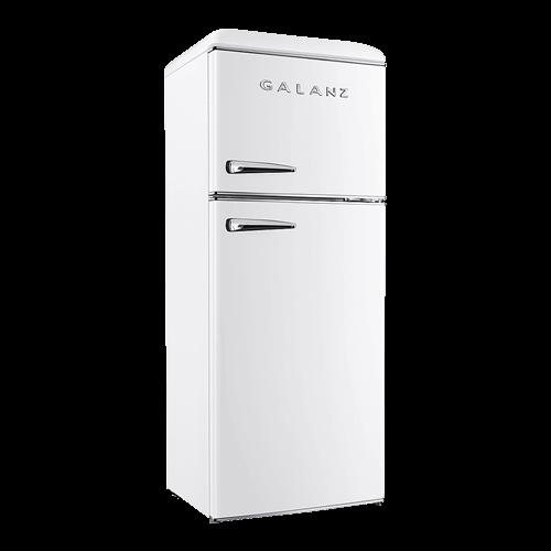 Galanz 12 Cu Ft Retro Top Mount Refrigerator in Milkshake White