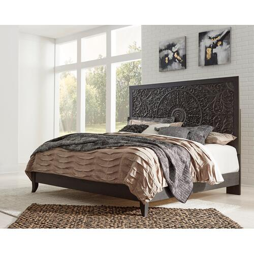 King Panel Bed With Dresser