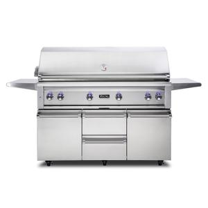 """Viking54""""W. Freestanding Grill with ProSear Burner and Rotisserie - VQGFS5541"""