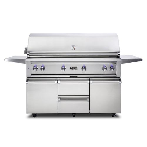 "54""W. Freestanding Grill with ProSear Burner and Rotisserie - VQGFS5541"