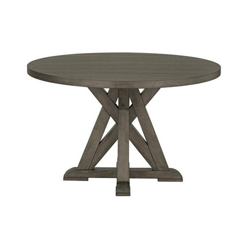 Standard Furniture - Beckman Grey Round Pedestal Table, Grey