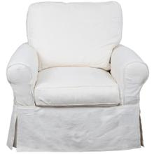 Horizon Slipcovered Swivel Rocking Chair - Color: 423080