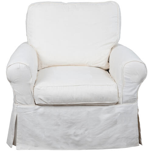Horizon Slipcovered Swivel Rocking Chair - Color: 423080