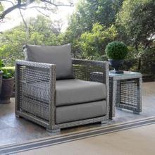 Aura Rattan Outdoor Patio Armchair in Gray Gray