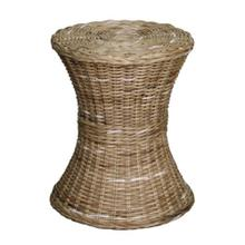 Kayla Rattan Round Side/ End Table, Gray