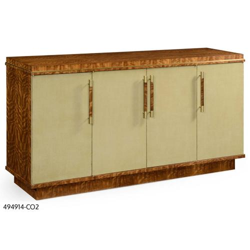Hyedua and celedon finish sideboard with four doors