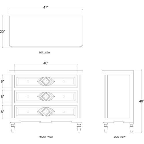 Robertson 3 Drawer Dresser w/ Mirror B