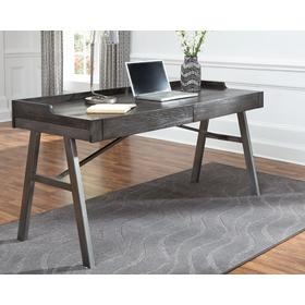 Raventown Home Office Desk Grayish Brown