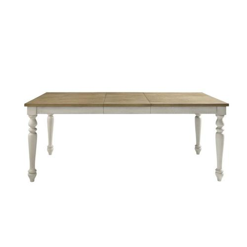 Standard Furniture - Larson Light Dining Table with 18' in Leaf, Distressed White