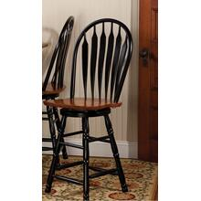 "DLU-B24-BCH  24"" Swivel Barstool  Antique Black and Cherry"