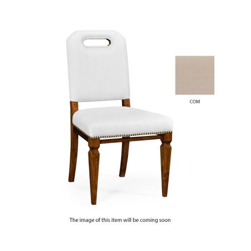Contemporary Camden Dining Side Chair, Upholstered in COM
