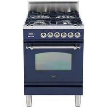 """24"""" Nostalgie Series Friestanding Single Oven Gas Range with 4 Sealed Burners in Midnight Blue"""