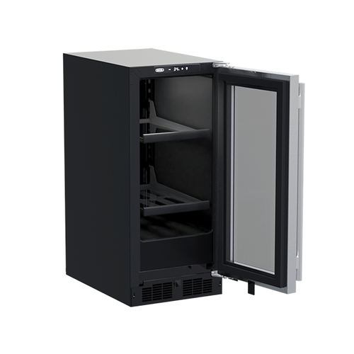 15-In Built-In Beverage Center with Door Style - Stainless Steel Frame Glass
