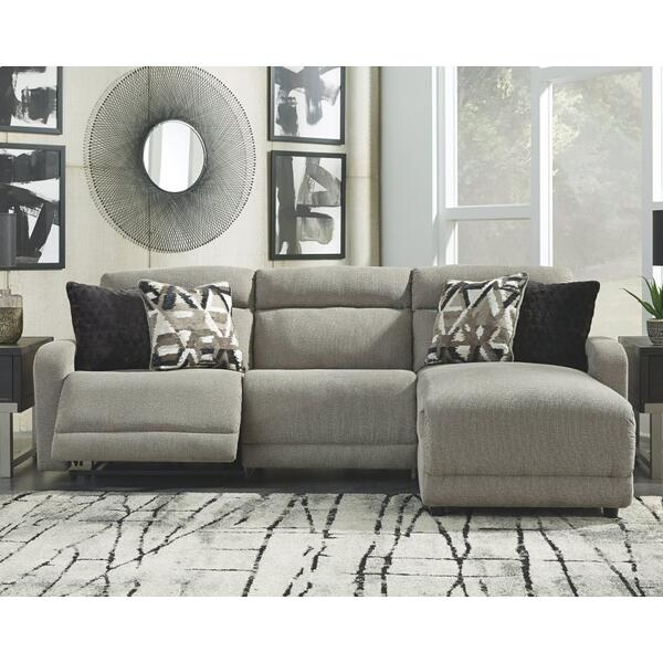 See Details - Colleyville 3-piece Power Reclining Sectional With Chaise