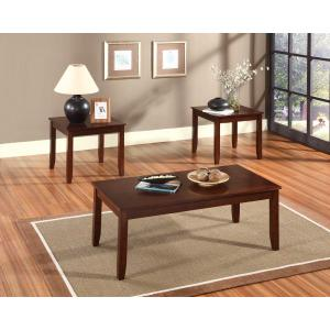 Brantley 3-Pack Accent Tables, Brown Cherry