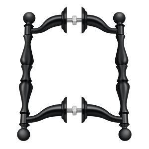 Deltana - Off-Set Handle Pull, Back-To-Back Set - Paint Black