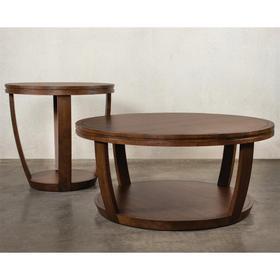 Round Side Table - Portobello Finish