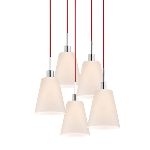 Glass Pendants Tall Cone 5-Light Pendant