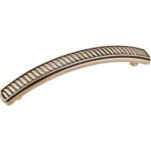 "4-13/16"" Overall Length Wave Detail Cabinet Pull. Holes are 96 mm center-to-center. Product Image"