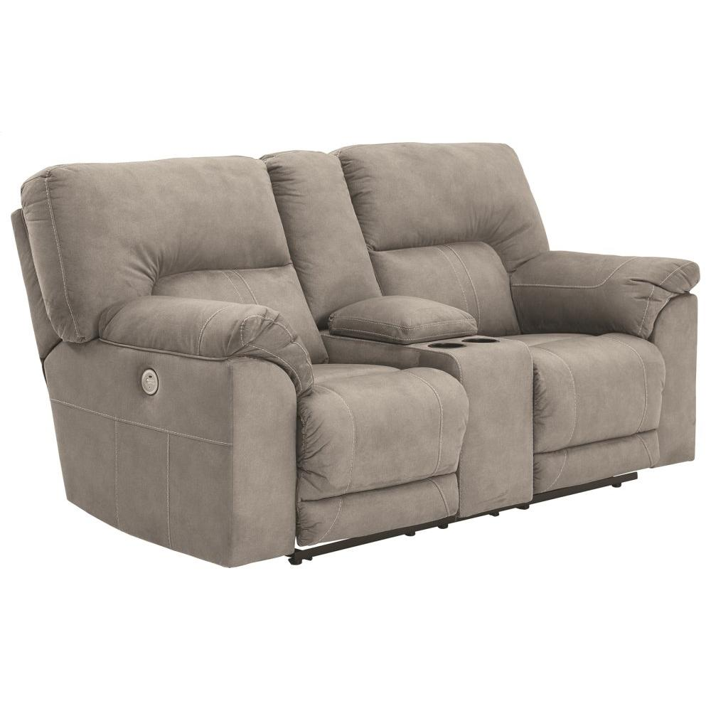See Details - Cavalcade Power Reclining Loveseat With Console