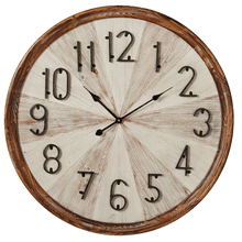 Natural Frame with Whitewash Inlay Wall Clock