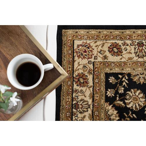 Elegance - ELG5143 Black Rug