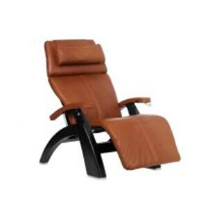 Perfect Chair ® PC-420 Classic Manual Plus - Cognac Premium Leather - Matte Black