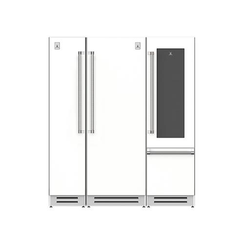 "Hestan - 72"" Column Freezer (L), Refrigerator and Wine Refrigerator ® Ensemble Refrigeration Suite - Froth"