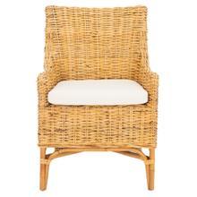 Cristen Rattan Accent Chair W/ Cushion - Natural / White