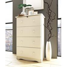 5341 - Four Super-Jumbo Drawer Chest, White