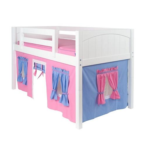 See Details - Under Bed Curtain : Hot Pink/Light Blue/Purple