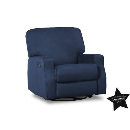 Carson Nursery Recliner Swivel Glider Chair - Navy (467)