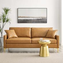 Juliana Vegan Leather Sofa in Tan