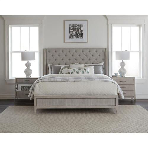 Lilly - Queen/king Shelter Bed Rails - Champagne Finish