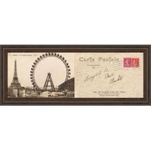"""""""Lettre De Paris Il"""" By Wild Apple Graphics Framed Print Wall Art"""