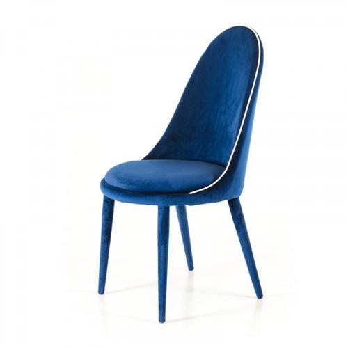 Klamath - Modern Blue & White Fabric Dining Chair (Set of 2)