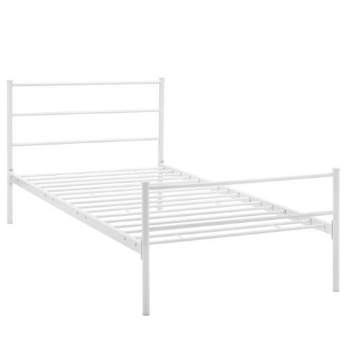 Alina Twin Platform Bed Frame in White